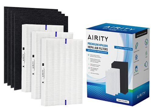 Honeywell HPA300 Compatible Air Purifier Filters by Airity | Includes 3 HEPA R Filters & 4 Carbon Prefilters | Honeywell Air Purifier Replacement Filters for Honeywell Filter R and Honeywell HPA300