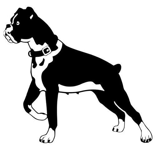 SCSHY Engomada del Coche 15,2 * 14 Cm Boxer Perro Personalidad Divertido Animal Clásico Coche Pegatinas Cuerpo Decoración Calcomanía Negro/Plata