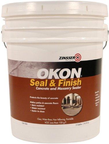 Okon OK940 Seal and Finish Concrete and Masonry Sealer, 5-Gallon Pail