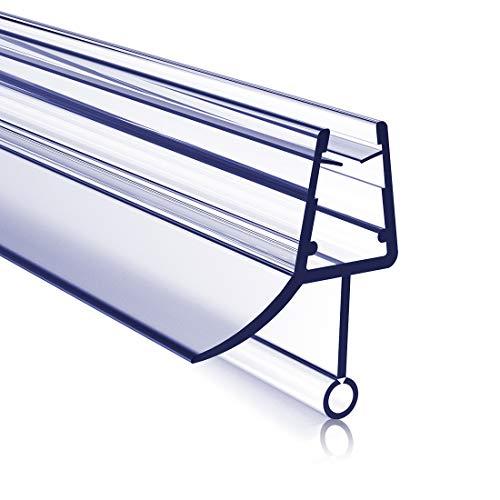 Meykoers Duschtür Dichtung Ersatzdichtung Duschdichtung 80cm, Bodendichtung Schwallschutz Dichtkeder mit Wasserabweiser für Duschkabine Duschwand mit 4-6mm Glasdicke