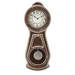 Bulova C1518 Guilford Chiming Wall Clock, 19, Brown