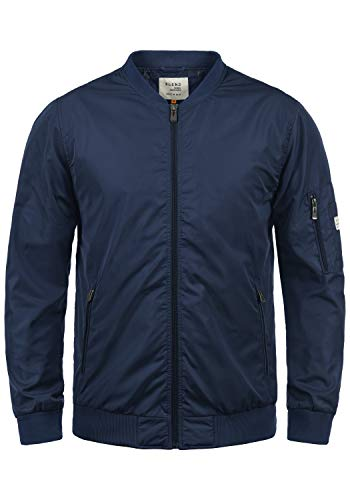 Blend Craz Herren Bomberjacke Übergangsjacke Jacke Mit Stehkragen, Größe:L, Farbe:Mood Indigo (74648)
