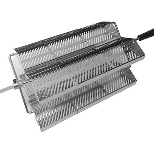 Short Adjustable 11-20 Inch Rib-O-Lator Trays for BBQ Rotisseries