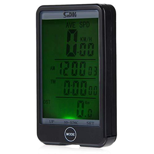 Yangyme Bicicleta Cuentakilómetros,Ciclo Multifunción Impermeable Pantalla LCD Velocímetro Grande Pantalla LCD para...