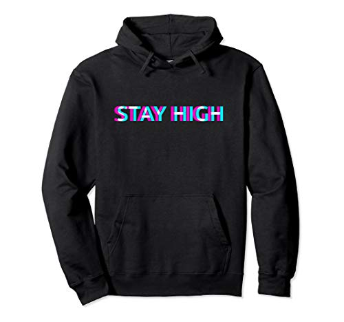 STAY HIGH UFO 420 Rap THC Joint Dope Cannabis Marihuana Weed Pullover Hoodie