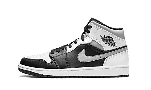 Nike Jordan 1 Mid White Shadow Black/Medium Grey-White 554724-073 (Numeric_13)