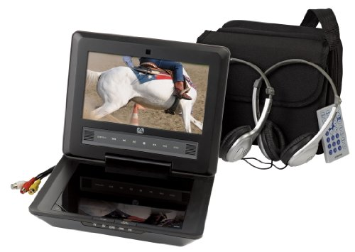 Find Discount Audiovox D9104PK 9-Inch LCD Portable DVD Player with Four Hour Playback and Accessory Pack, Black