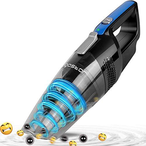 Aigostar Mercury 33LBX - Aspirador de mano ciclónico inalámbrico, succión en seco y húmedo, batería recargable 2050mAh, depósito 500ml, filtro HEPA. Diseño exclusivo.
