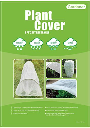 Gardaner Plant Covers Freeze Protection 0.9oz 8Ft x 24Ft Rectangle Plant Cover for Cold Protection,Season Extension