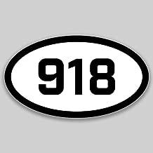 DHDM 918 Area Code Sticker Oklahoma Tulsa Bartlesville Broken Arrow City Pride Love | 5-Inches by 3-Inches | Premium Quality Vinyl UV Resistant Laminate PD2280