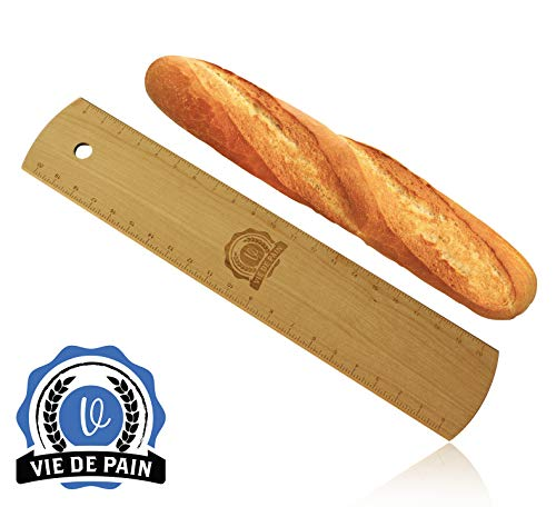Premium Baguette Flipping Board- Solid Hardwood Transfer Peel for French Bread by Vie De Pain