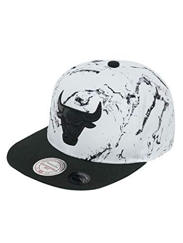 Mitchell & Ness Herren Snapback Caps White and Black Marble Chicago Bulls weiß one Size
