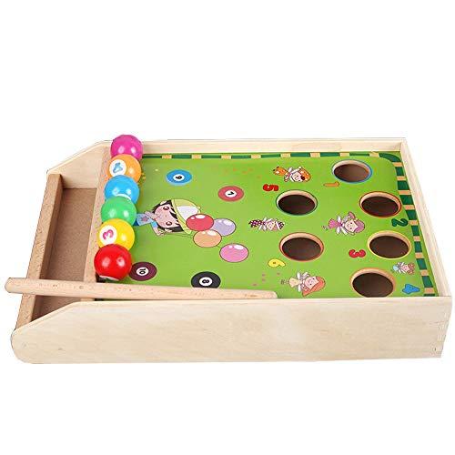 Yifuty Kinder Mini Billard Spiel, Klein Billard, Konzentrationstraining, Baby-pädagogisch Eltern-Kind-Interactive Spielzeug 3-6 Jahre alt, Hochwertiges Holz