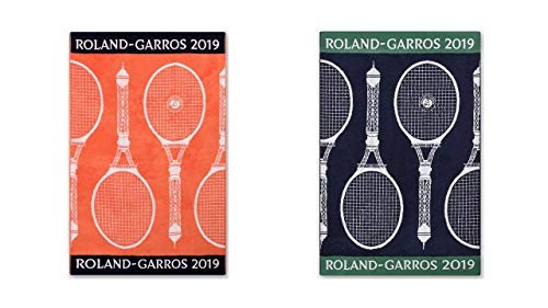 Roland Garros 2019 on Court Lady & Men Tennis Handtuch Sport Handtuch zweier Set