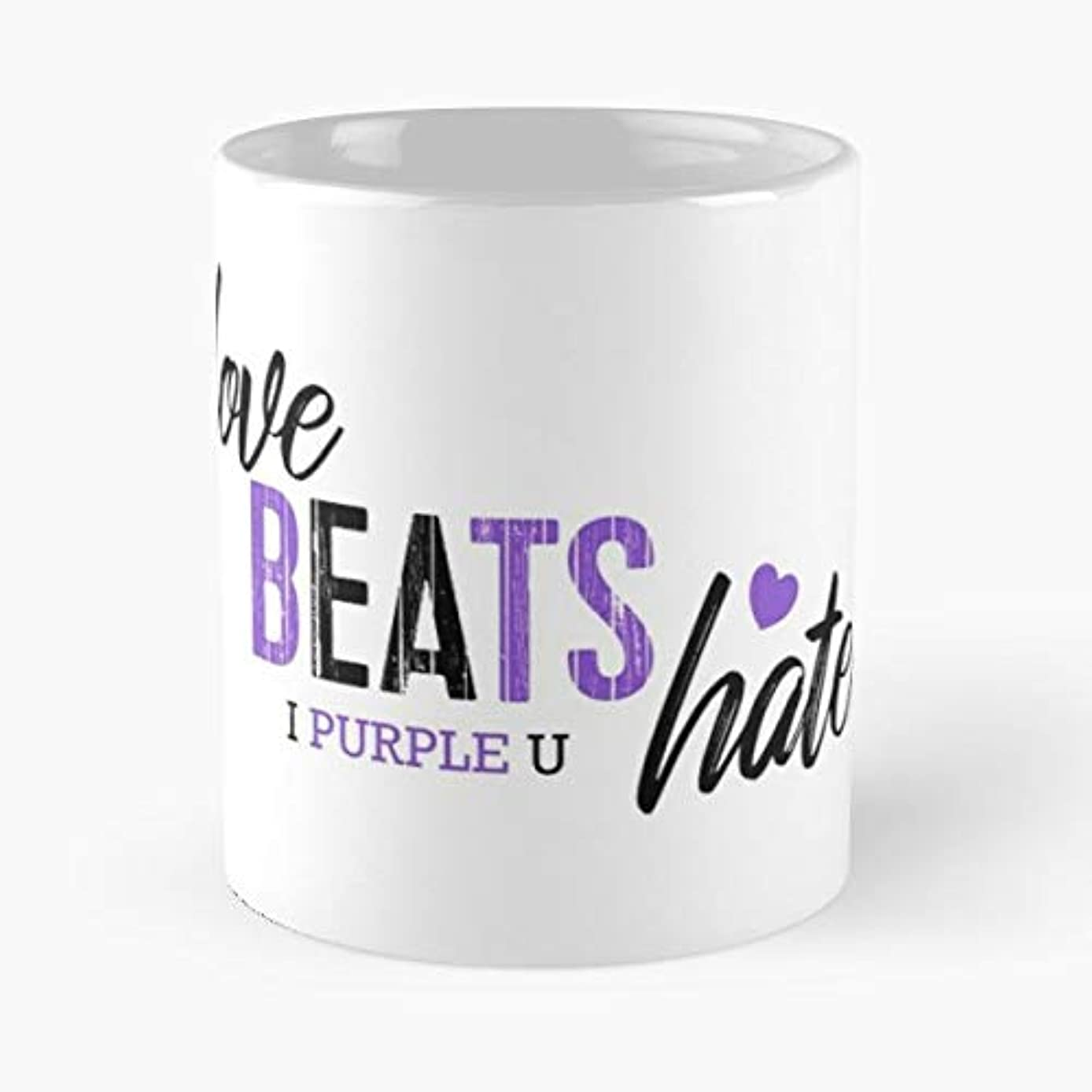 Bts Army I Purple You Love Beats Hate Merch Coffee Mugs Unique Ceramic Novelty Cup