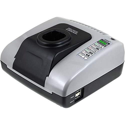Powery Cargador de batería con USB para Ryobi One+ Taladro Angular portátil CAP-1801M