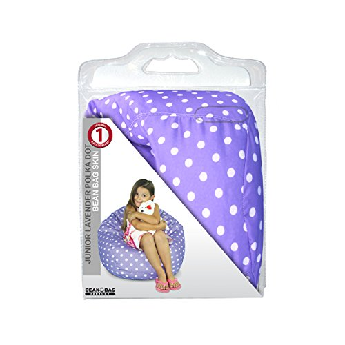 Bean Bag Factory Junior Bean Bag Cover, Polka Dot, Lavender and White