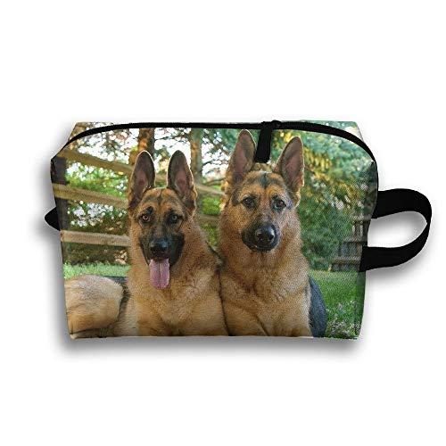 Leuke huisdier Duitse herder hond reizen toiletten tas cosmetische zak potlood tas Tote multifunctionele organizer opbergtas