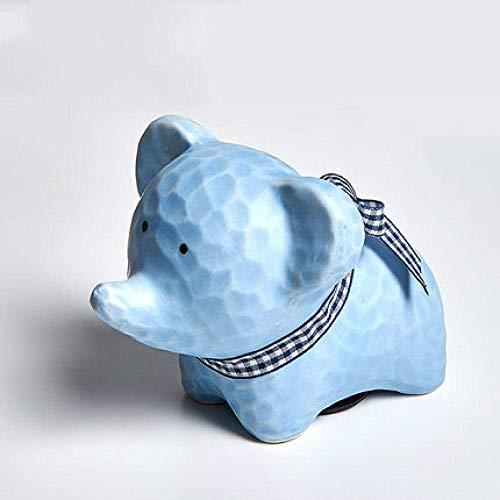 SUNTAOWAN Arte Decoraciones artesanía Elefante Regalo Hucha de cerámica de decoración alcancía niños Sala de Estar casera