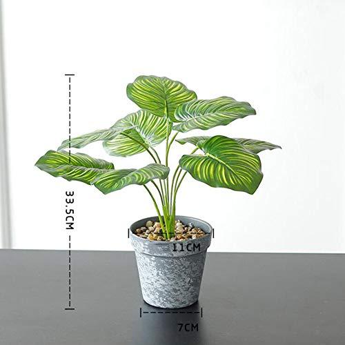 RUIZHISHUArtificial Planten, Fake Plants met Grijze Kunststof Bloempotten, Kunstplanten Potten voor Home Desktop Decoratie