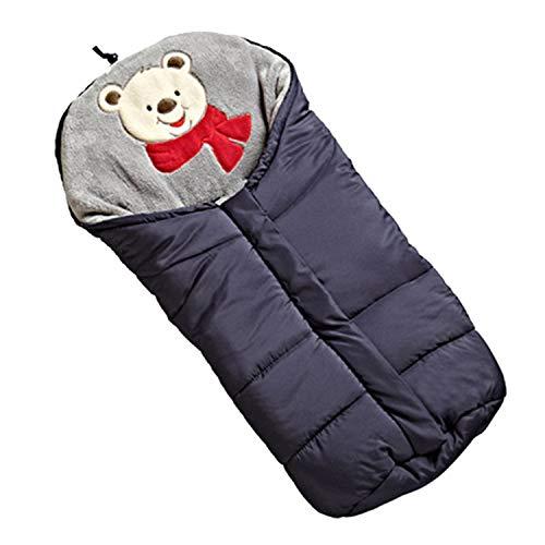 Kinderwagen Fußsack, Kinderwagen Schlafsack,Universal Multifunktions Winter Winddicht Warme Kinderwagen Kinderwagen Buggys Schlafsack für Neugeborenes Baby Kleinkind Blau