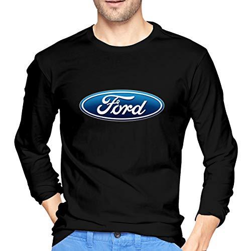ArmyZ Heren T-Shirts Ford-logo Lange mouwen Tee Casual Katoenen Jersey Shirts