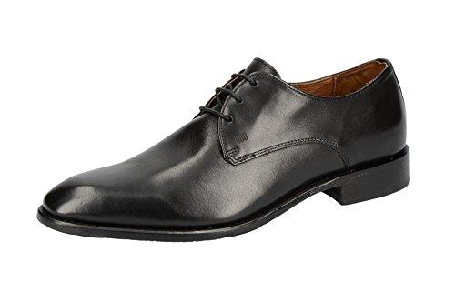 Gordon & Bros Herrenschuhe Mirco S500602 Klassischer rahmengenähter Schnürhalbschuh mit Derbyschnürung für Anzug, Business und Freizeit schwarz (Black), EU 44