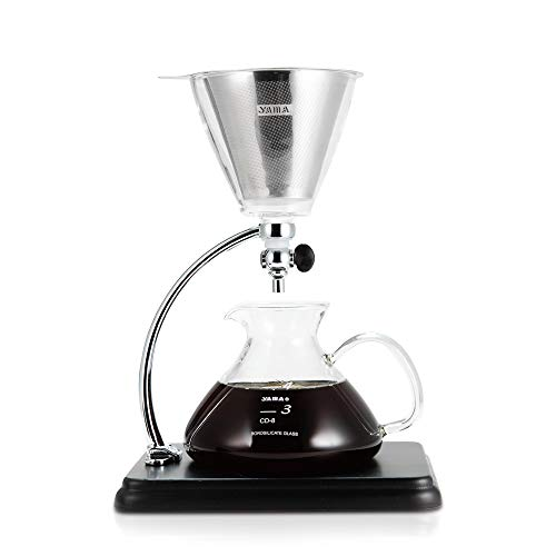 Yama Glass Pour Over Kaffeemaschine, Schwarz