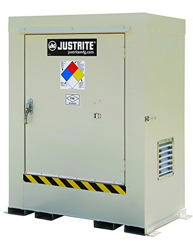 Hazardous Material Safety Storage Outdoor Locker, Non-Combustible, 6-Drum, for Safe Chemical Storage