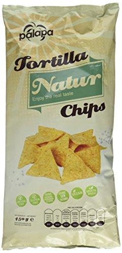 Palapa Tortilla Chips natur | 450 gr | Mexikanischen Küche | Ohne Konservierungsstoffe | Hervorragender Geschmack | Vegan | Glutenfrei