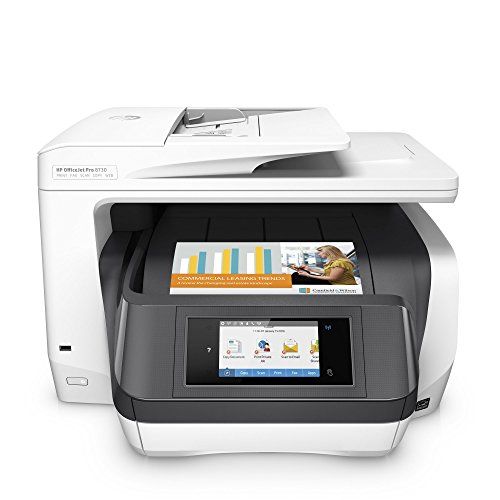 HP OfficeJet Pro 8730 Stampante multifunzione (A4, Stampante, Scanner, Copiatrice, Fax, PCL 6, Wi-Fi, LAN, NFC, Duplex, Compatibile con inchiostro istantaneo, HP ePrint, Airprint, Cloud Print, USB, 2400 x 1200 dpi) Bianco