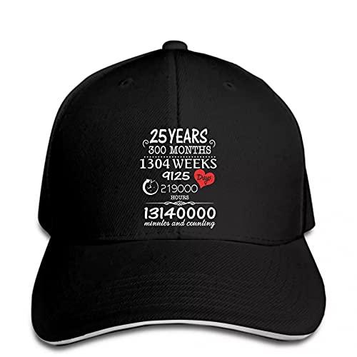 FOMBV Gorra de béisbol Hombres Aniversario de Boda años Vintage Cartas Personalizadas Regalo Sombrero Snapback Transpirable enarbolado Ajustable Regalo de Gorra de Visera Deportes al Aire Libre