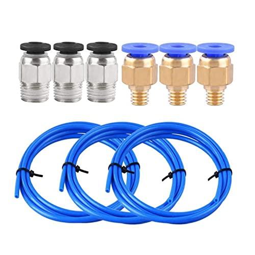 Jorzer PTFE-Schlauch Blau Teflon 1.75mm Consumable Kit Fern Nozzle Feeding Set für 3D-Druckerzubehör