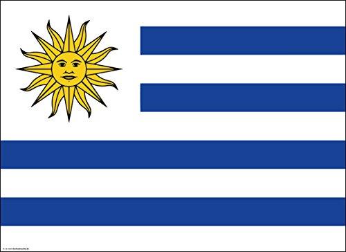 Tischsets | Platzsets - Uruguay Flagge - 10 Stück - hochwertige Tischdekoration 44 x 32 cm für uruguayische Feiern, Mottopartys & Fanabende