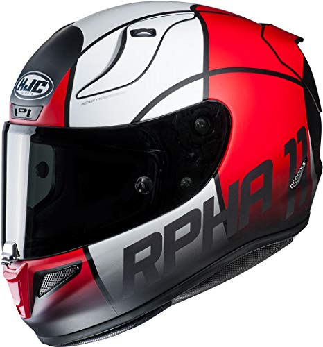 Motorradhelm HJC RPHA 11 QUINTAIN MC1SF, Schwarz/Weiss/Rot, M