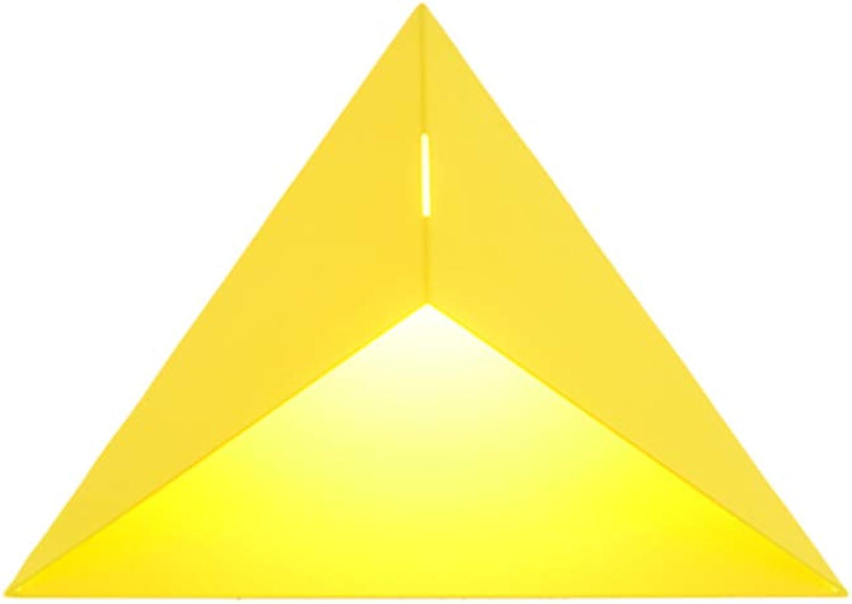 Wandleuchte Nordischen Stil Persnlichkeit Led 3 Watt Warmes Licht Indoor Home Eisen Kreative Dreieck hohlen Dekorative Kunst Wandleuchte (Farbe   Gelb)