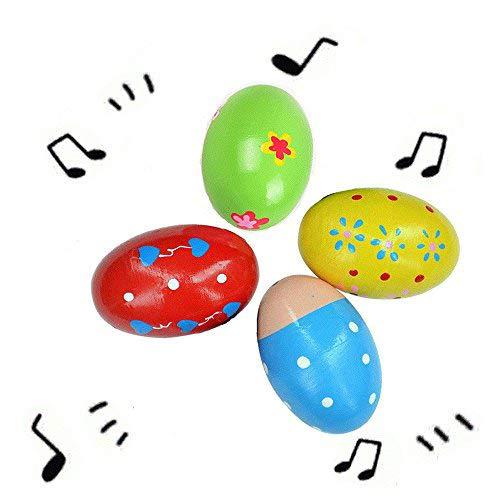 10Pack Legno Eggs Maracas Sonaglio Shaker Strumento Uovo Percussioni Musicali educativo,Kids Learning Fun giocattolo musicale per bambini