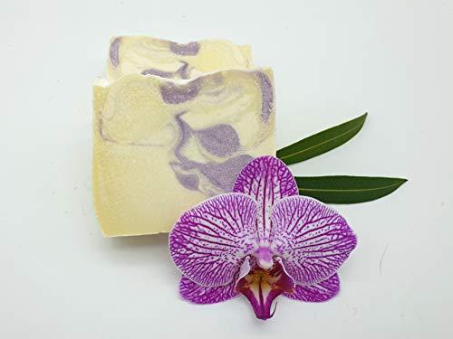 Lavendel Sole Seife, Gesichtsseife, Salzseife, unreine Haut, ohne Palmöl, vegan, handgemachte Naturseife von kleine Auszeit Manufaktur