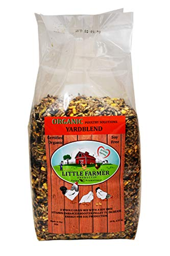 LITTLE FARMER PRODUCTS USDA Certified Organic Yardblend, Non-GMO Soy-Free Whole Grain Poultry Feed Supplement, Chicken Vitamin Mineral Booster Pellet, 10 lbs