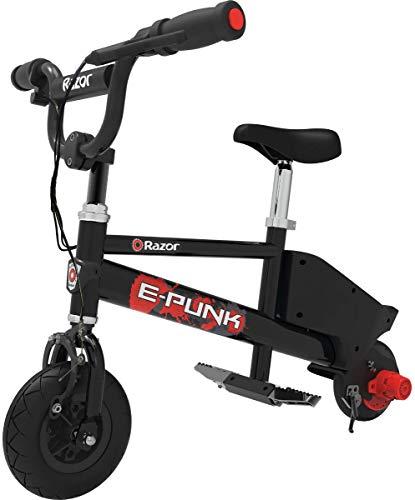 Razor E Punk - Bicicleta Eléctrica, Color Negro, Niños