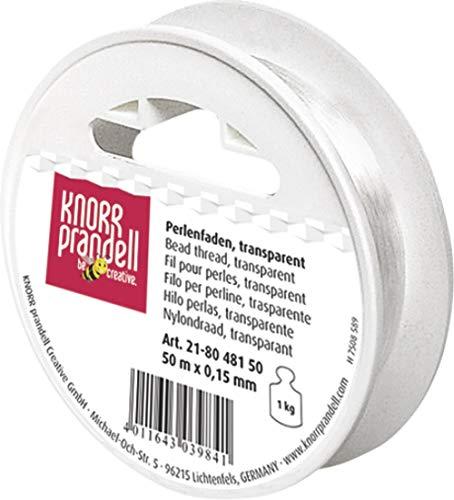 KnorrPrandell 8048150 Perlonfaden, 50 m - 0.15 mm Durchmesser, transparent