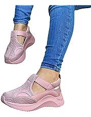 LIZONGFQ Vrouwen Sneakers Casual Schoenen Mesh Lace-Up Dames Sportschoenen Wiggen Vrouwen Gevulkaniseerde Schoenen Vrouwtjes Sneakers, C,41