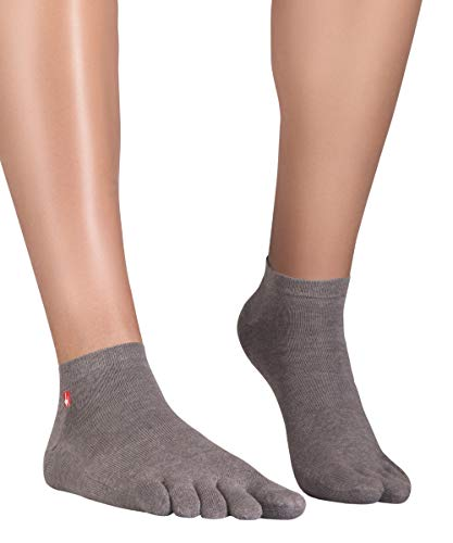 Knitido Track & Trail Ultralite Fresh Zehensocken-Sneaker Unisex, Größe:39-42, Farbe:Silbergrau