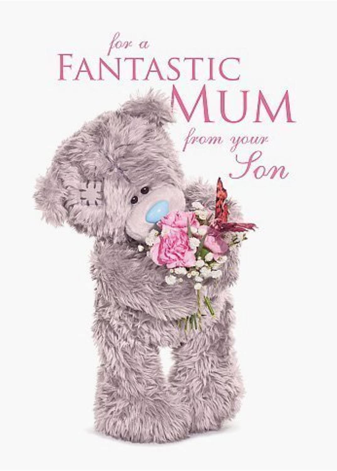 Me to You Fantastic Mum From Your Son Holographic Card - Tatty Teddy by Carte whitehe