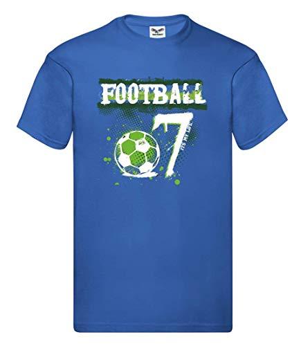 Camiseta de portero de fútbol para hombre y hombre azul cobalto M
