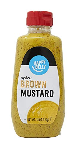 Happy Belly Spicy Brown Mustard, Kosher, 12 Ounce