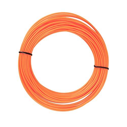 QINGRUI Materiales de Impresora Llegada PLA 3D PLA 1.75mm 5m Material de impresión de Goma de plástico para la Impresora 3D Filamento Filamento 20 Colores Fácil de Dar Forma (Color : Orange)