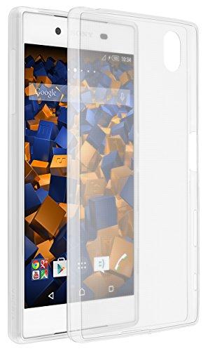 mumbi Hülle kompatibel mit Sony Xperia Z5 Compact Handy Case Handyhülle, transparent weiss, Ultra Slim klar