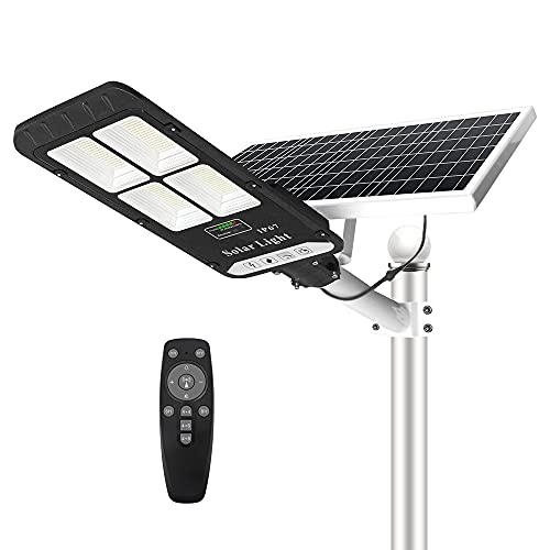 400W Solar Street Flood Light Outdoor, NIORSUN Motion Sensor Dusk to Dawn Solar Light with Remote Control IP67 Waterproof for Parking Lot, Stadium, Garden, Pathway(Bright White)