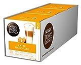 NESCAFÉ Dolce Gusto Latte Macchiato, XXL-Vorratsbox, 90 Kaffeekapseln, Aromatischer Espresso, 3-Schichten-Köstlichkeit aus feinem Milchschaum, Aromaversiegelte Kapseln, 3er Pack (3 x 30...